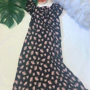 Betsey Johnson Dresses - Betsy Johnson Off the Shoulder Floral Dress